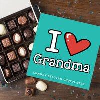 Personalised Belgian Chocolates - Cartoon Heart - Cartoon Gifts