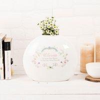Personalised Spring Garden Bone China Vase - Vase Gifts