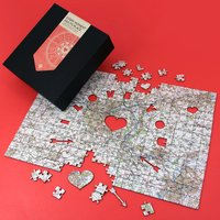 Personalised Map Jigsaw Puzzle - I Love You - Jigsaw Puzzle Gifts