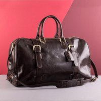 Embossed Flero Italian Leather Travel Bag - Italian Gifts