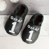 Personalised Number Baby Shoes - Baby Gifts