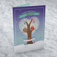 Personalised Christmas Card - Christmas Owls - Owls Gifts