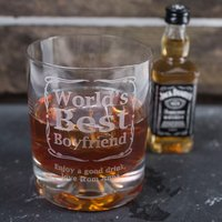 Personalised Birthday Whisky Tumbler and Jack Daniels Miniature - Worlds Best - Getting Personal Gifts