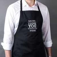 Personalised Black Apron - Love You As Much As - Apron Gifts
