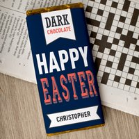 Personalised Dark Chocolate Bar - Happy Easter