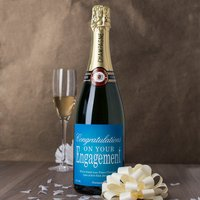Luxury Personalised Champagne - Congratulations On Your Engagement