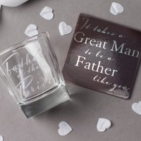 Whisky Glass & Coaster - Father Of The Bride