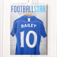 Personalised Football Calendar - New Edition - Football Gifts