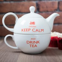Personalised Teapot For One - Keep Calm