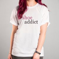 Personalised White T-Shirt - Addict