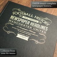 Leather Bound Personalised Football Book - For Your Team - Football Gifts