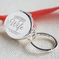 Engraved Photo Key Ring - World's Best Wife - Key Ring Gifts