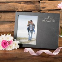 Engraved Slate Chalkboard Photo Frame - Journey