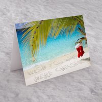 Personalised Christmas Card - Beach - Beach Gifts