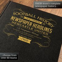 Personalised Newcastle United Football Book - Football Gifts