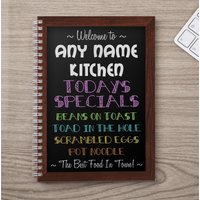 Personalised Notebook - My Name Kitchen - Kitchen Gifts