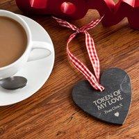 Engraved Heart Shaped Slate Hanging Keepsake - Keepsake Gifts