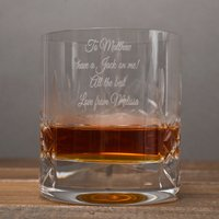 Engraved Crystal Whisky Tumbler & Jack Daniels Gift Set - Getting Personal Gifts