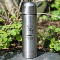 Engraved Stainless Steel Vacuum Flask - Gone Fishing - Flask Gifts