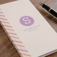 Personalised Address Book - Initial - Book Gifts