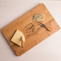 Personalised Large Rectangular Wooden Cheese Board - Happily Ever After - Cheese Board Gifts