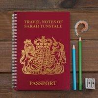 Personalised Notebook - Passport Design - Passport Gifts