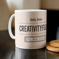 Personalised Mug - Creativity Fluid - Creativity Gifts