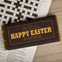 Personalised Dark Chocolate Bar - Easter