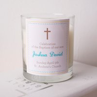 Personalised Scented Candle - Baptism Celebration