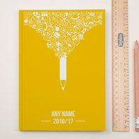 Personalised Academic Diary 2016/17 - Pencil - Diary Gifts