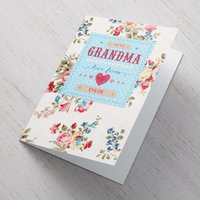 Personalised Mother's Day Card - Vintage Florals, Grandma - Grandma Gifts
