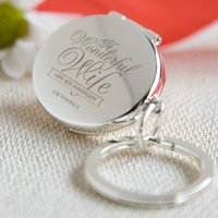 Engraved Photo Key Ring - 40th Anniversary, Wonderful Wife - 40th Gifts