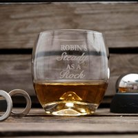Image of Personalised On The Rocks Glass Set - Steady As A Rock