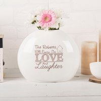 Personalised Love & Laughter Bone China Vase - Laughter Gifts