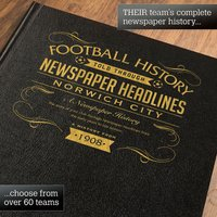 Personalised Norwich Football Book - Football Gifts