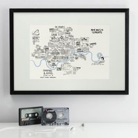 Personalised Illustrated Musical Map Of London - Musical Gifts