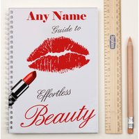 Personalised Notebook - Lipstick - Lipstick Gifts