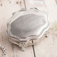 Engraved Vintage Jewellery Box With Decorated Legs - Jewellery Box Gifts