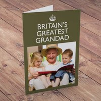 Photo Upload Card - Britain's Greatest Grandad - Grandad Gifts