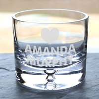 Personalised Glass Bowl - Heart - Bowl Gifts