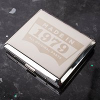 Engraved Cigarette Case - Original Parts - Cigarette Gifts