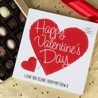 Personalised Belgian Chocolates - Happy Valentine's Day