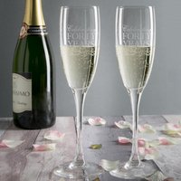 Personalised Champagne Flutes - Celebrating 40 Years
