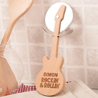 Personalised Guitar Pizza Cutter - Rockin '& Rollin' - Food Gifts