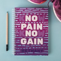 Image of Personalised Notebook - Know Pain, Know Gain