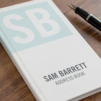 Personalised Address Book - Stripy Initials - Book Gifts