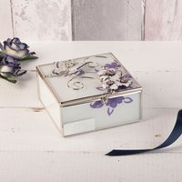 Engraved Butterfly Glass Trinket Box - Butterfly Gifts