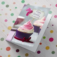 Personalised Card - Pink Cupcake Sign - Cupcake Gifts