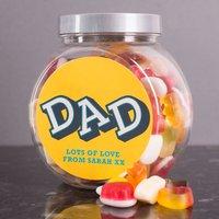 Personalised Haribo Sweet Jar - Dad - Haribo Gifts