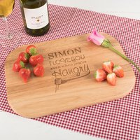 Engraved Medium Rectangular Chopping Board - Hangry - Chopping Board Gifts